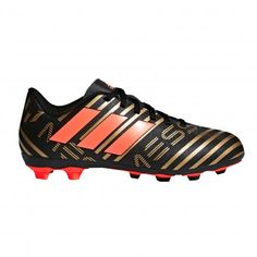 13e725f18 Adidas Nemeziz Messi 17.4 FxG CP9210 voetbalschoenen junior core black solar  red tactile gold metallic