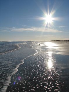 Sparkling sun over the ocean Avalon New by WaterDropletDesigns