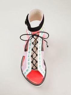 Sophia Webster 'riko' Flat Sandals - Elite - Farfetch.com