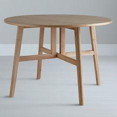 110cm Oak Table http://www.johnlewis.com/john-lewis-camberley-round-4-seater-gateleg-dining-table/p377433?colour=Oak