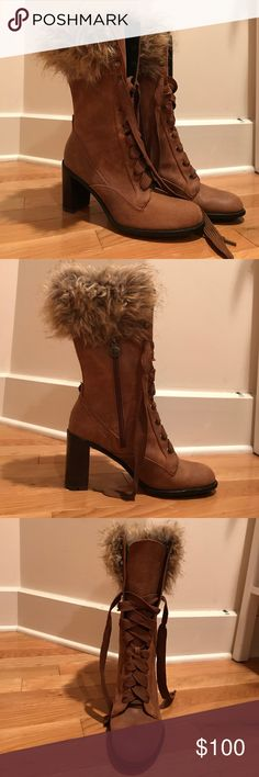 Selling this Taryn booties with faux fur on Poshmark! My username is: gracespopup. #shopmycloset #poshmark #fashion #shopping #style #forsale #Taryn Rose #Shoes