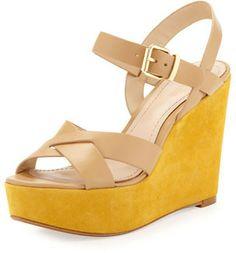 Pour La Victoire Lysa Wedge Sandal, Tan on shopstyle.com
