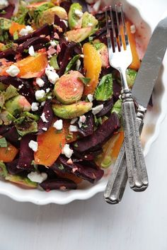 Roasted Beet and Brussels Sprout Citrus Salad