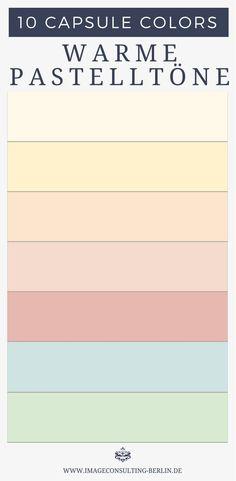 Warme Pastellfarben für Tops und Blusen, (Nacht)wäsche, Yogakleidung, leichte Sommerkleidung -