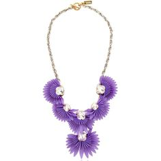 VANINA Birds Of Paradise Necklace ($338) ❤ liked on Polyvore featuring jewelry, necklaces, purple, purple necklace, plastic jewelry, purple jewelry, bird necklace and swarovski crystal necklace