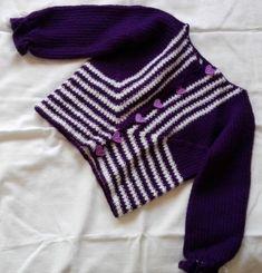Jacke Lila gestreift Pullover, Gloves, Fashion, Striped Jacket, Purple Streaks, Hand Crafts, Knit Jacket, Tops, Clothing
