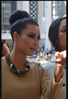 Love her bun and makeup