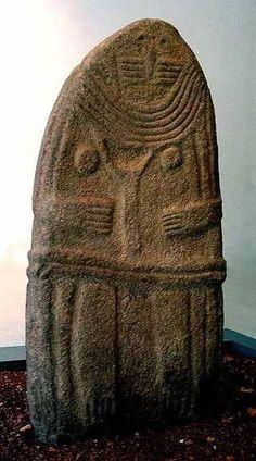 La Dame de Saint-Sernin, statue- menhir rouergate.Musée Fenaille-Rodez-Aveyron-France