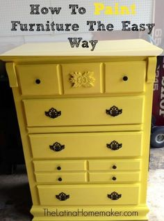 How To Paint Furniture The Easy Way-See how I transformed an old dresser into a beautiful piece of furniture.