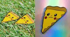 Un pin's Pikachu pizza, Pizzachu Pikachu, Pizza, Dit, Etsy, Amen, Artist