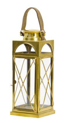 Antique Brass Lantern by The Libra Company