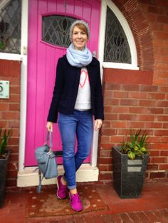 Style Guile: An outfit for a day of shopping - trainers, knitte...