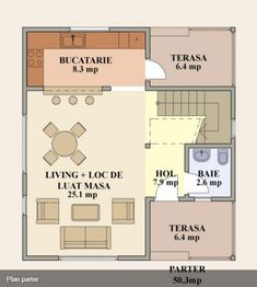 proiecte de case cu mansarda sub 100 de metri patrati Attic houses under 100 square meters 14