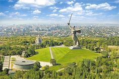 The Motherland Calls is a statue in Mamayev Kurgan in Volgograd, Russia, commemorating the Battle of Stalingrad. Zhengzhou, Sanya, Places Around The World, Around The Worlds, Battle Of Stalingrad, Kuala Lumpur, Tour Tickets, Walking Tour, Okinawa