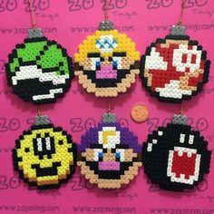 Mario Christmas Set 2 Pixel Baubles
