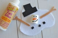 Melted Snowman Craft Project for Kids – Darice – Red Unicorn Paper Plate Crafts For Kids, Winter Crafts For Kids, Craft Kids, Clay Projects For Kids, Craft Projects, Kids Clay, Kids Christmas, Christmas Crafts, Melted Snowman Ornament