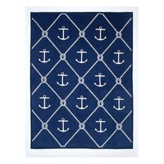 Found it at Wayfair - Anchors and Knots Cotton Throw Blanket