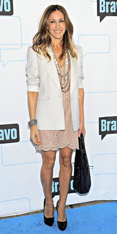 Lace Dress  Sarah Jessica Parker - Look of the Day - InStyle