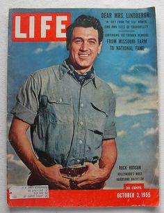 Rock Hudson 1955 Life Magazine vintage 1950s by Christian Montone, via Flickr