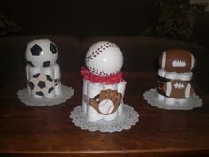 All Sports Theme Baby Shower lime green and blue | ... cake Basketball and Baseball Baby Shower Centerpieces other sizes too