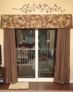 Project In Craftsy Valance Lesson. Great Idea For My Patio Door