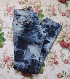 Rock Revival DORSETT Alt Straight Men Acid Wash Jeans Size 30 #RockRevival #ClassicStraightLeg