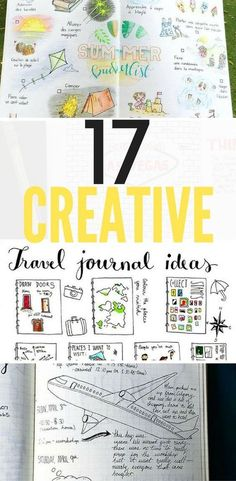 17 Creative Travel Bullet Journal Ideas for the Wanderlust. Using my bujo as a t… 17 Creative Travel Bullet Journal Ideas for wanderlust. Use my Bujo as a logbook. Track times, flights, weather, distance, and random thoughts along the way. Best Travel Journals, Bullet Journal Travel, Travel Journal Pages, Bullet Journal Layout, Bullet Journal Inspiration, Journal Ideas, Trip Journal, Journal Notebook, Bullet Journals