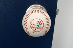 TEAM LOGO Baseball Doorknobs made with a genuine by hugg57 on Etsy, $39.95