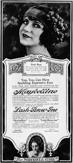 1920 [September] Viola Dana endorsement for 'Lash-Brow-Ine' and 'Maybelline'.