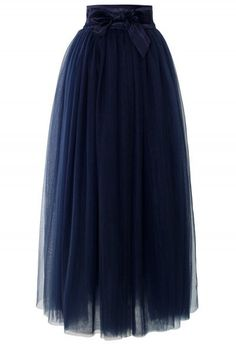 Amore Maxi Tulle Prom Skirt in Navy - Skirt - Bottoms - Retro, Indie and Unique Fashion (esto con brds mxns) Blue Tulle Skirt, Navy Skirt, Dress Skirt, Blue Maxi, Tulle Skirts, Navy Maxi, Pleated Maxi, Midi Skirt, Unique Fashion