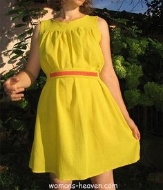 yellow dress fashion style moda clothes wear picture image http://www.womans-heaven.com/yellow-dress-40/