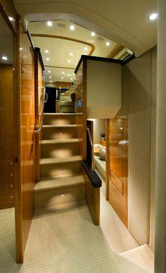 Riviera 53 Enclosed Flybridge - Companionway Staircase
