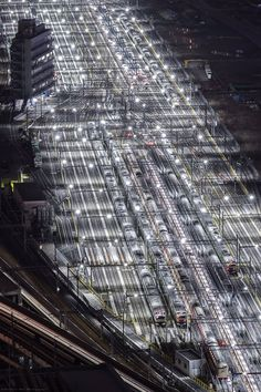 Aerial Photography, Art Photography, Trains, Urban Exploration, Birds Eye View, City Photo, Transportation, Tokyo, Japan