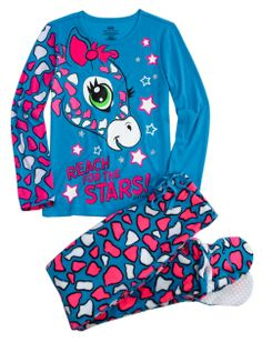 Giraffe 2pc Set With Removable Footies | Girls Sets Pajamas & Robes | Shop Justice