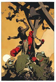 Hellboy 25th Anniversary SDCC Print
