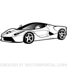Luxury car vector clip art.