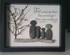 Family Pebble Art by SDCreations0813 on Etsy