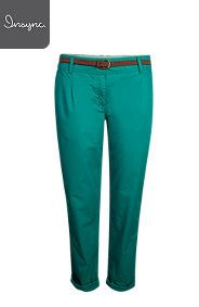 BELTED PLEATED CHINOS