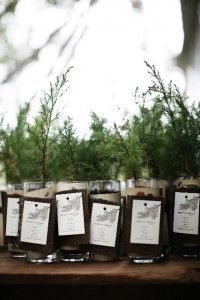 Trees as Wedding Favors. I want one! Top 10 Eco-Friendly Wedding Reception Decorations