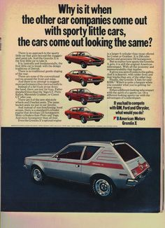1971 AMC Gremlin... Had one of these when I was a kid!!!  Wish we still had it!