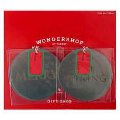 Merry & No Peeking Gift Tags 4 ct - Wondershop, Silver
