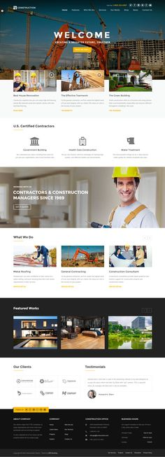 Construction - WP Construction, Building Business. If you like UX, design, or design thinking, check out theuxblog.com