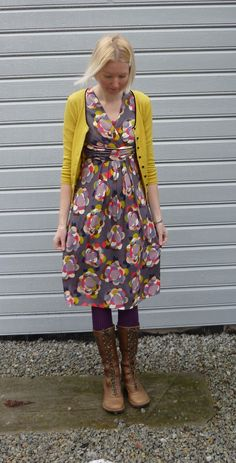 Boden drapey jersey dress via color makes people.  Love this look.