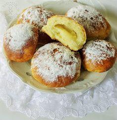 najsmaczniejsze pączki pieczone, pieczone pączki, pączusie, z budyniem, z marmoladą, delikatne, mięciutkie pączki, nadziewane, z cukrem pudrem, pieczone, z piekarnika,