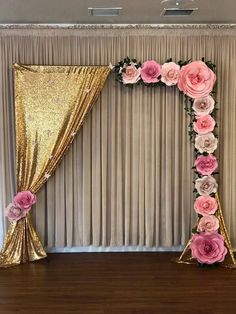 Wedding paper roses custom made colors giant roses engagement wedding backdrop 20 over the top quinceanera backdrop ideas Stage Decorations, Balloon Decorations, Birthday Party Decorations, Baby Shower Decorations, Wedding Decorations, Birthday Parties, Paper Flower Backdrop, Paper Flowers, Fabric Flowers