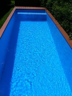Above Ground Pool Design Idea from Recycled Steel Dumpster