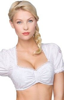 Traditional dirndl blouse B3025 white