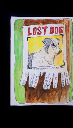 #lost #dog #art #sketch sketchbook project