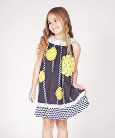 Take+a+look+at+the+Black+Sunburst+Stripe+Dress+-+Infant,+Toddler+&+Girls+on+#zulily+today!