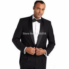 Matin Style 2016 Noir Formelle Parti Costume de Garçons D'honneur Smokings Pour Hommes Tailcoat Marié De Mariage Costumes Epoux (Veste + Pantalon + arc) dans Costumes de Hommes de Vêtements et Accessoires sur AliExpress.com | Alibaba Group